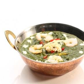 Shrimp Saag Purkan Curry